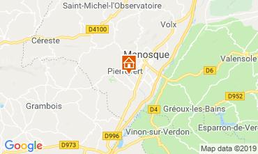 Mappa Manosque Villa  119002