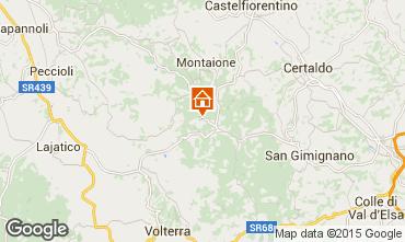 Mappa Gambassi Terme Appartamento 58105