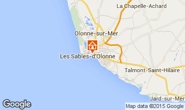 Mappa Les  Sables d'Olonne Appartamento 77419