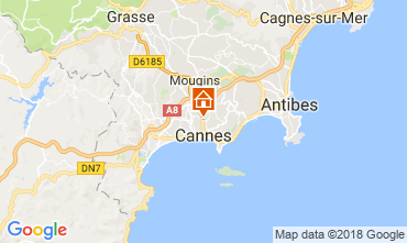 Mappa Cannes Appartamento 114415