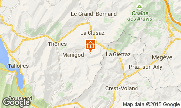 Mappa Manigod-Croix Fry/L'étale-Merdassier Appartamento 17198