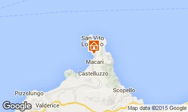 Mappa San Vito lo Capo Appartamento 35964