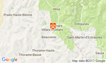 Mappa Val d'Allos Chalet 3208
