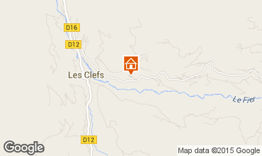 Mappa Manigod-Croix Fry/L'étale-Merdassier Chalet 27781
