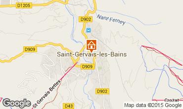 Mappa Saint-Gervais-les-Bains Appartamento 81553