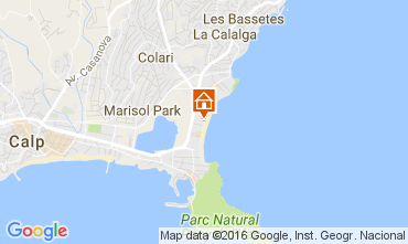 Mappa Calpe Appartamento 106452