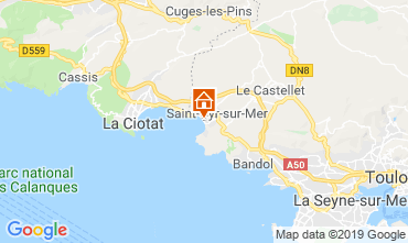Mappa Saint Cyr sur Mer Villa  118107