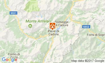 Mappa Cortina d'Ampezzo Appartamento 105108