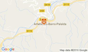 Mappa Amélie-Les-Bains Monolocale 106653