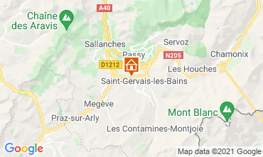 Mappa Saint Gervais Mont-Blanc Chalet 2611