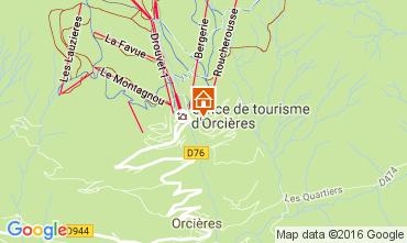 Mappa Orcières Merlette Monolocale 2069