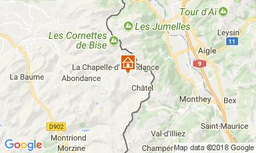 Mappa La Chapelle d'Abondance Chalet 61959