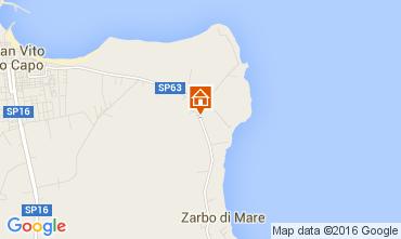 Mappa San Vito lo Capo Appartamento 102502