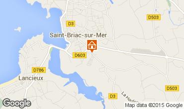 Mappa Saint Briac sur Mer Casa mobile 91448