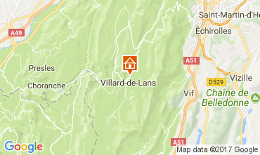 Mappa Villard de Lans - Corrençon en Vercors Appartamento 112217