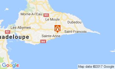Mappa Sainte Anne (Guadalupa) Bungalow 58644