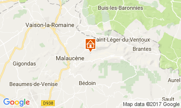 Mappa Beaumont du Ventoux Agriturismo 12129