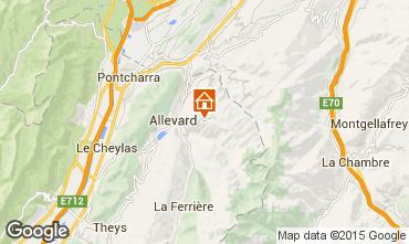 Mappa Le Collet d'Allevard Appartamento 28001