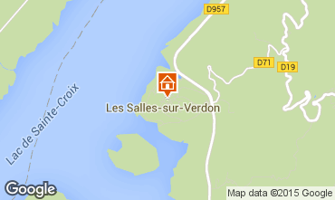 Mappa Les Salles sur Verdon Appartamento 77282