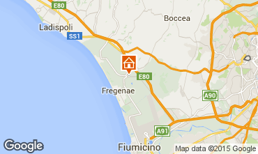 Mappa Fiumicino B&B 97363