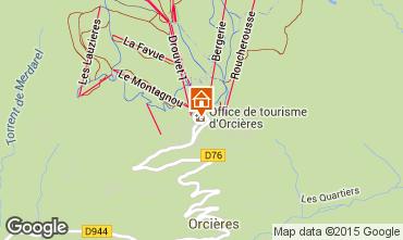 Mappa Orcières Merlette Appartamento 80594