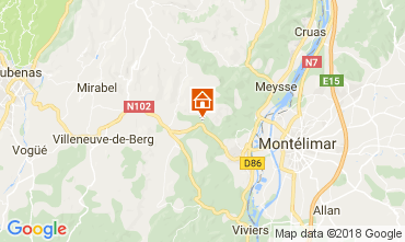 Mappa Vallon-Pont-D'Arc Villa  112399