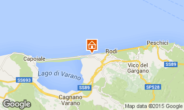 Mappa Rodi Garganico Appartamento 87989