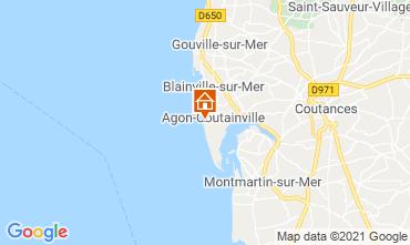 Mappa Agon-Coutainville Villa  15234
