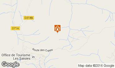 Mappa Les Saisies Appartamento 48734