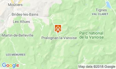 Mappa Pralognan la Vanoise Agriturismo 45684