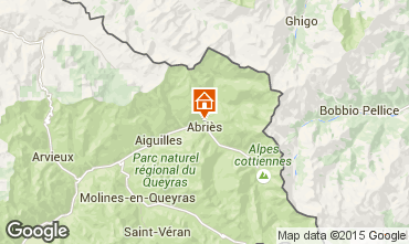 Mappa Abriès Chalet 69713