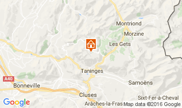 Mappa Praz de Lys Sommand Chalet 2355