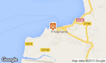Mappa Propriano Appartamento 100724