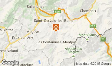 Mappa Saint Gervais Mont-Blanc Appartamento 2566