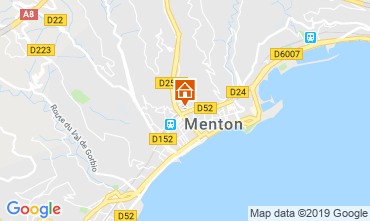 Mappa Menton (Mentone) Appartamento 66868