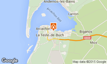 Mappa Arcachon Casa 6632