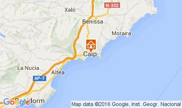 Mappa Calpe Appartamento 85293