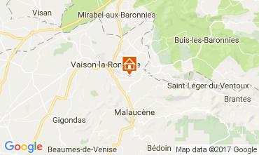 Mappa Vaison la Romaine Casa 110810