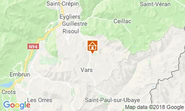 Mappa Vars Chalet 58226