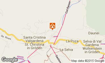 Mappa Santa Cristina Valgardena Monolocale 83248