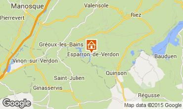 Mappa Esparron-de-Verdon Casa 87209