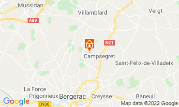 Mappa Bergerac Agriturismo 118030