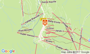 Mappa Les 2 Alpes Appartamento 111845