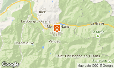 Mappa Les 2 Alpes Appartamento 48478