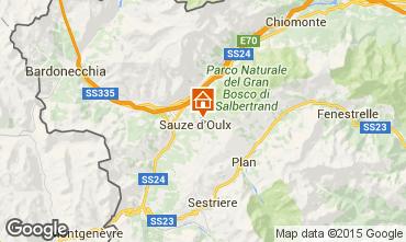 Mappa Sauze d'Oulx Appartamento 91663