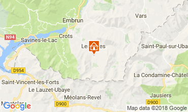 Mappa Les Orres Chalet 65856