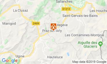 Mappa Praz sur Arly Casa mobile 91335