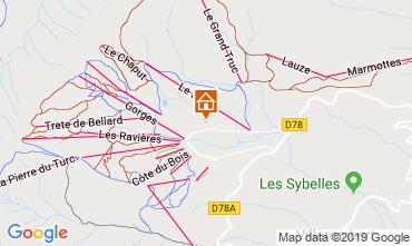 Mappa La Toussuire Chalet 112290