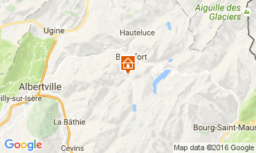 Mappa Areches Beaufort Chalet 107220