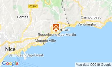 Mappa Menton (Mentone) Appartamento 117812